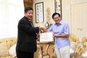 Mr. Lee Nominating Ambassador of Nepal to Korea as the Publicity Ambassador of HWPL