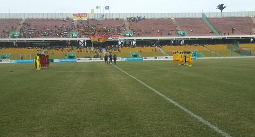 Black Stars and Togo at the Accra Sports Stadium.