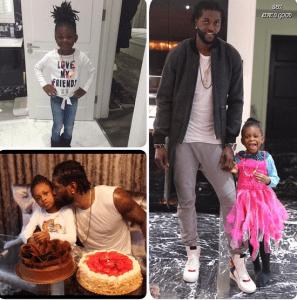 Emmanuel Adebayor and daughter