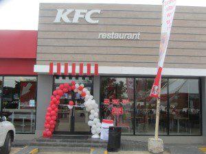 The new KFC restaurant in Kumasi