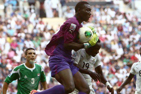 WA ALL Stars goalkeeper Richard Ofori