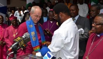 Mayor Welcomes Archbishop Of Canterbury