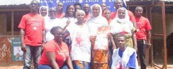 Delta Air Lines employees donate mosquito nets to Nima-Mamobi communities