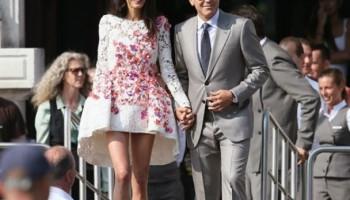 Hollywood's latest couple George and Amal Alamuddin