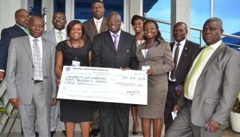 NIB gives  GH¢ 50,000.00 to Cape Coast University