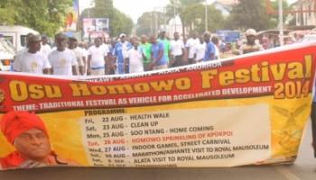 People of Osu  marked Homowo health walk