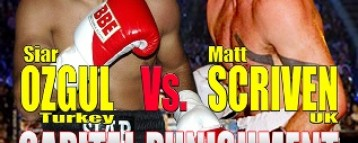 Siar Ozgul and Matt Scriven Fixture Set For Oct 25th