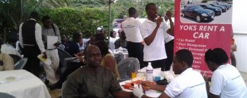 Staff of Yoks Car Rentals enjoy free health screening