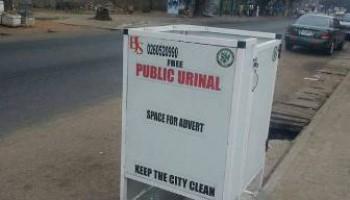 Ghanaian Company Produces Anti-Germ Public Urinal Facility