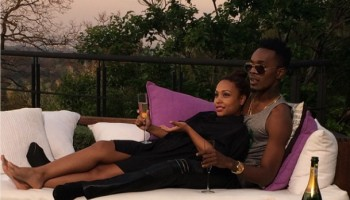 Patoranking relaxes with pretty lady