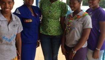 Ama K. Abebrese Foundation Partners Girl Guides