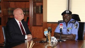 US Ambassador Donates High Tech Equipments To IGP