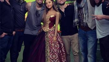 Ariana and Chris Brown Work On Their Video Togather