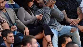 Kim K and Husband Attends Lakers vs Rockets Game