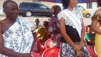 Nadia Ntanu, Miss Ghana 2013 Welcomed With A Durbar At Manfe