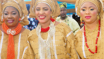 Oba Kabiru Adelaja Agbabiaka's 3 Beautiful Wives